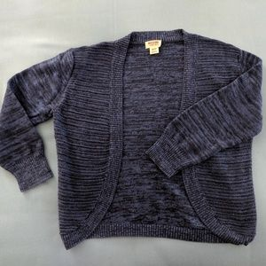 Mossimo cotton bolero cardigan in blue